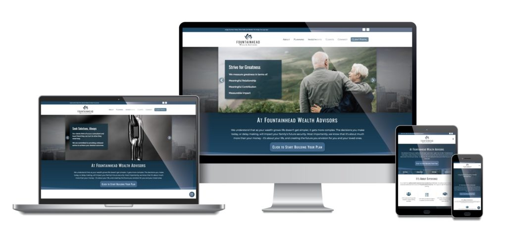 Fountainhead Wealth Advisors responsive mockup